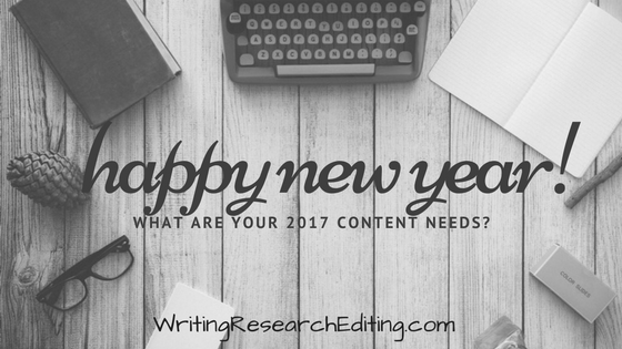 Happy New Year! What Content Will You Need in 2017? - Writing ...